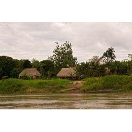 Indian Village on Rio Madre de Dios Amazon River Basin Peru Canvas Art - Jaynes Gallery DanitaDelimont (36 x 24)