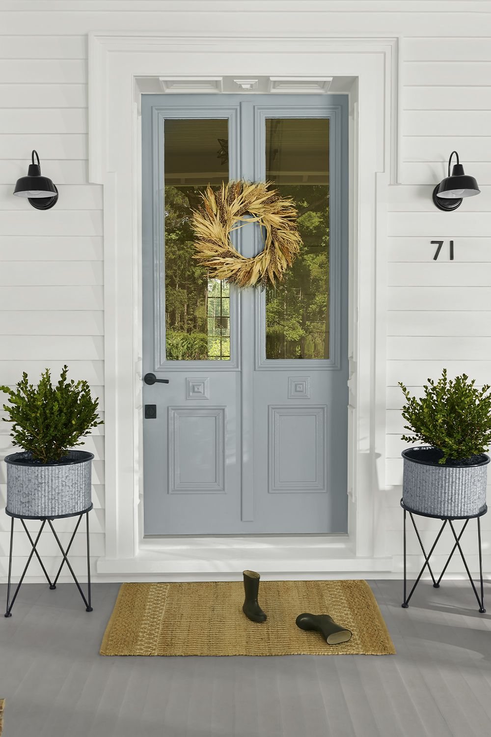 Easy ways to add curb appeal House exterior, Front porch