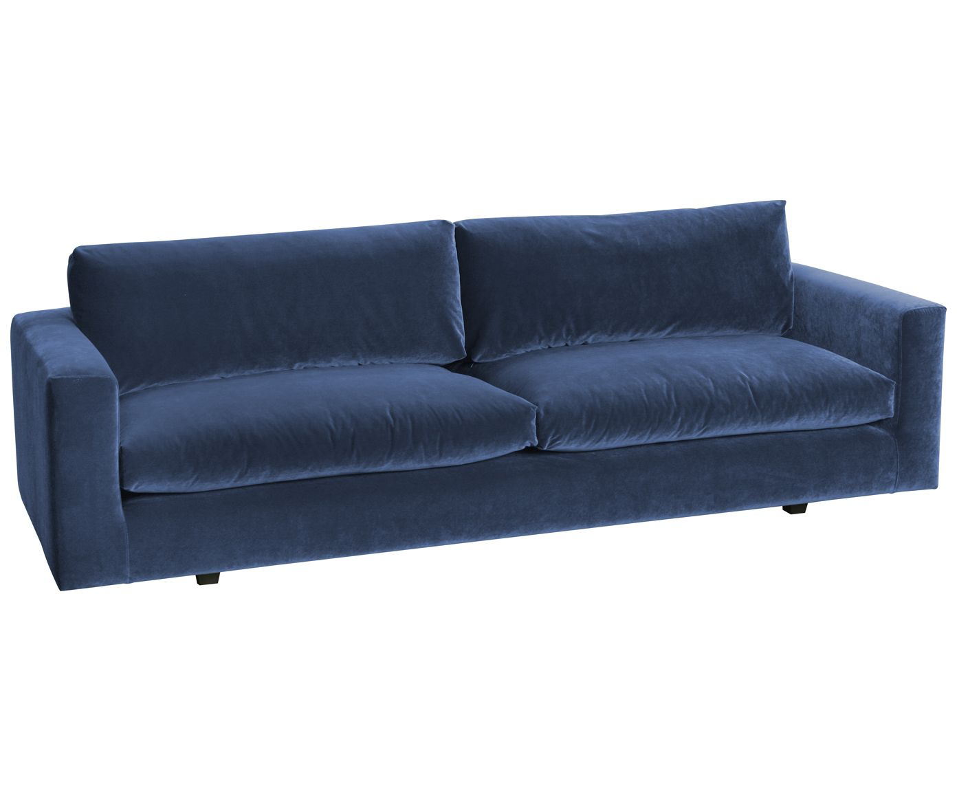 Samt sofa  Samt-Sofa Balmira (3-Sitzer)