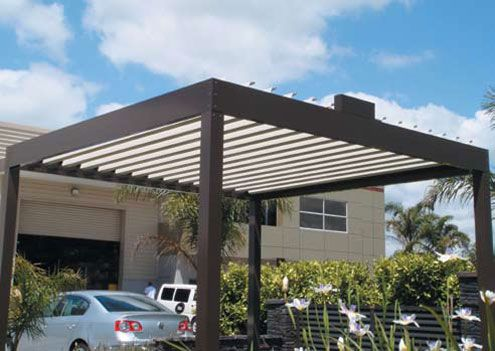 Cool Idea For Patio Opening Roofs By Louvretec Digsdigs Patio Repair Pergola On The Roof Building A Pergola
