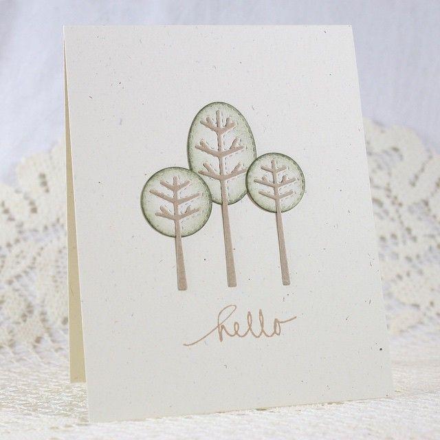 Another CAS card... #memorybox #tinytrees #preciousremembrancestamps