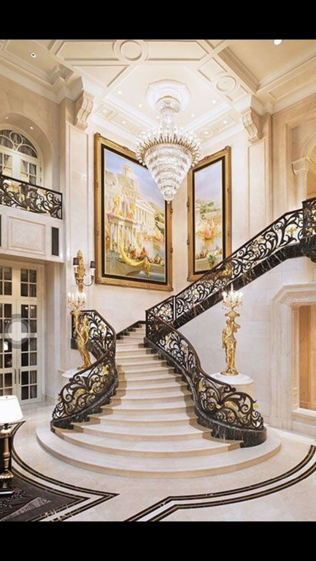 Best Pin By Sonya Lee On 인테리어 Luxury Staircase Mansion 400 x 300