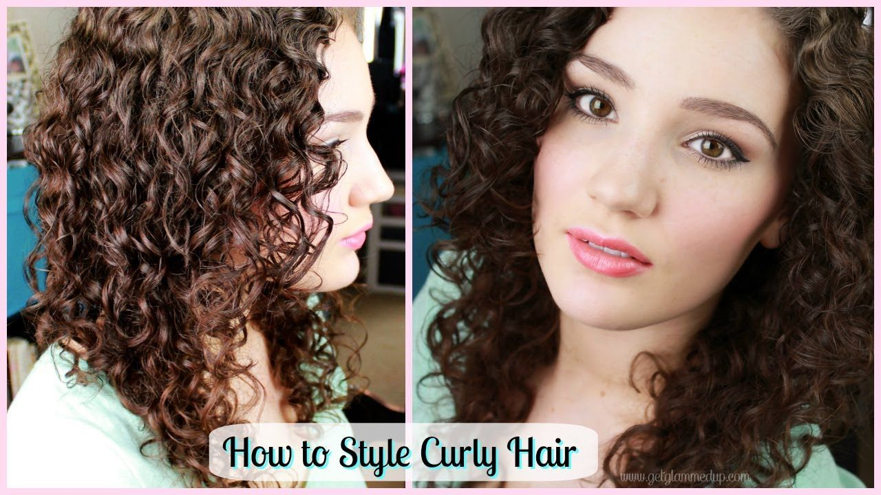 How To Style Curly Hair Create Ringlets Giveaway Winner Hair And Makeup Tips Curly Hair Styles Curly Hair Care
