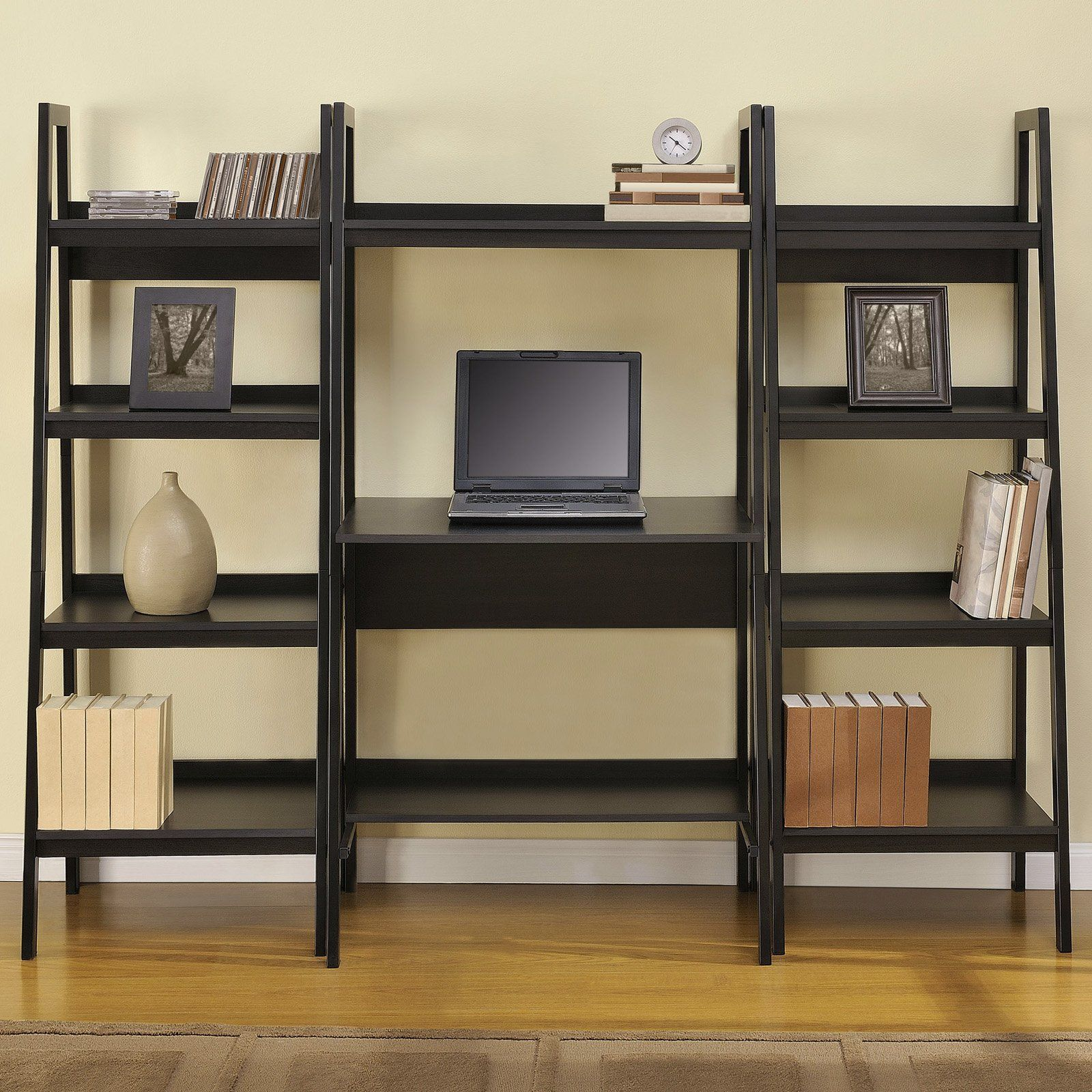 built bookshelf computer with most room creativity desk in bookcase ribbon unit living units blue bookcases wall and