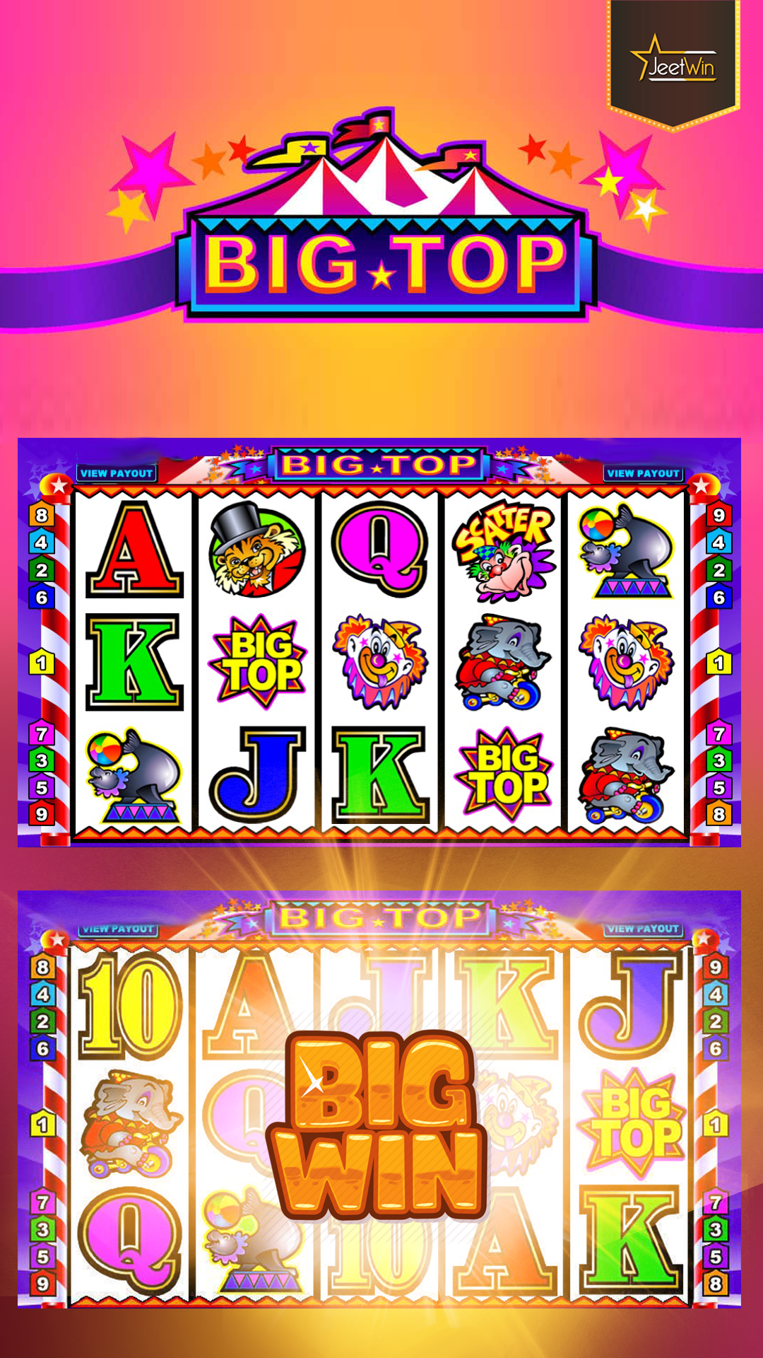 Play Big Top and Win Big. Play and Win Real Money.