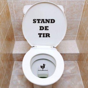Sticker Wc Stand De Tir Stand De Tir Stickers Wc Et Toilettes