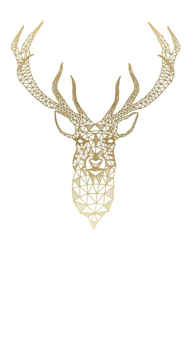 Deer Head Wallpaper Kertas Dinding Desain Dekorasi