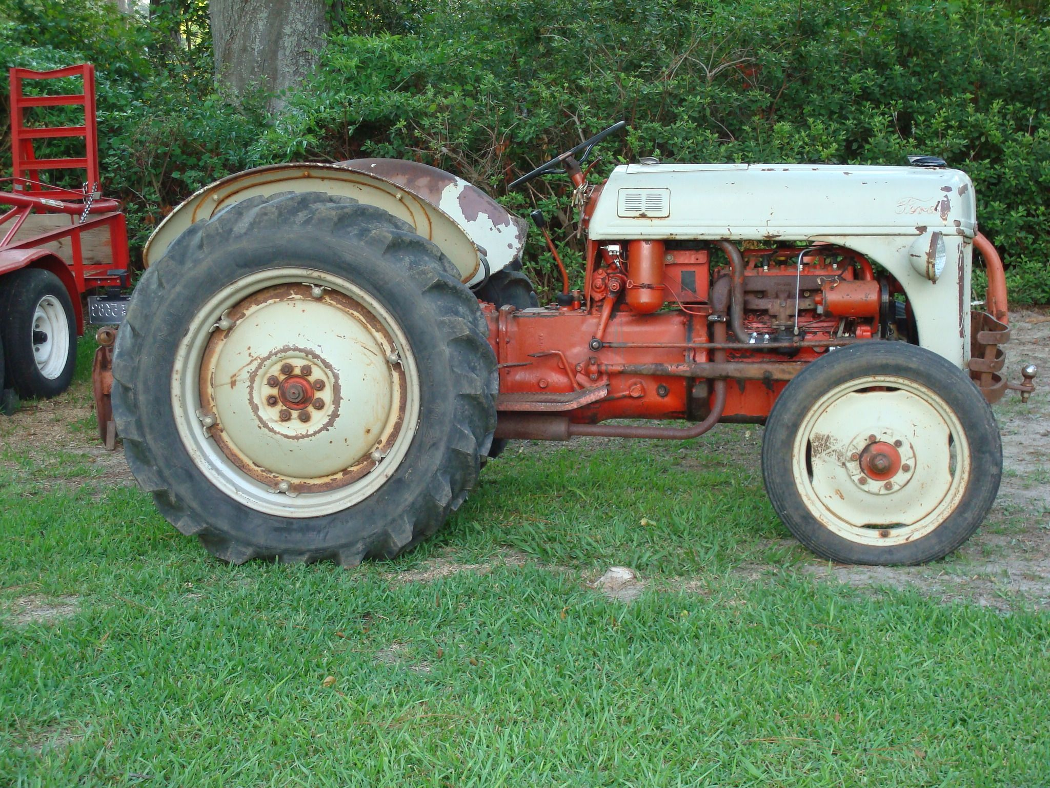 Homie 1951 Red Belly Ford 8n Old Tractors Ford Tractors Antique Tractors