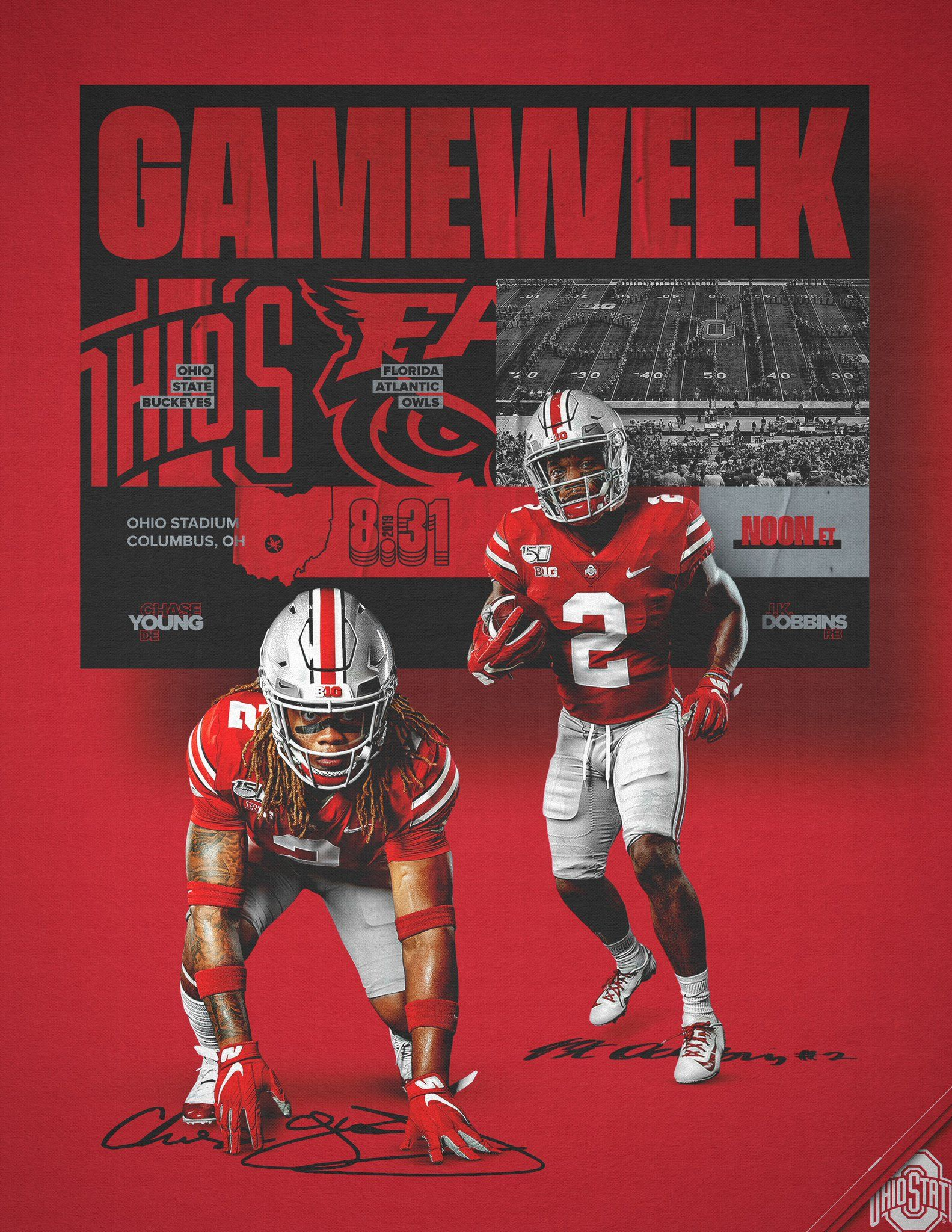 Ohio State Football On Twitter Ohio State Football Sports Graphic Design Sports Design Inspiration