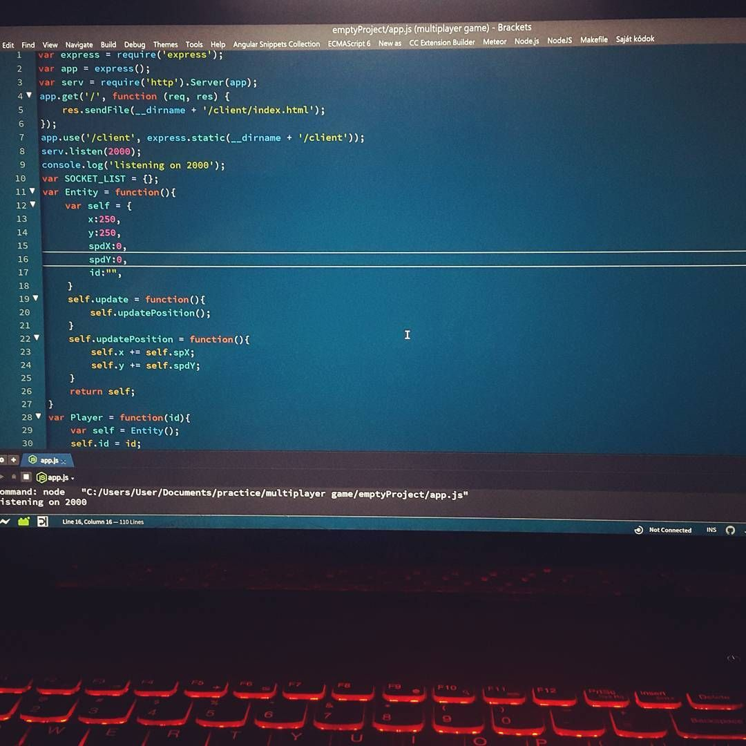 Working on a multiplayer game #softwareengineer #software