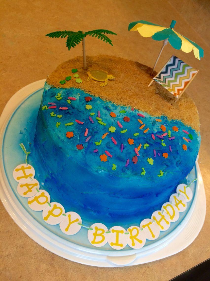 Beach birthday cake for jason beach birthday cake cake