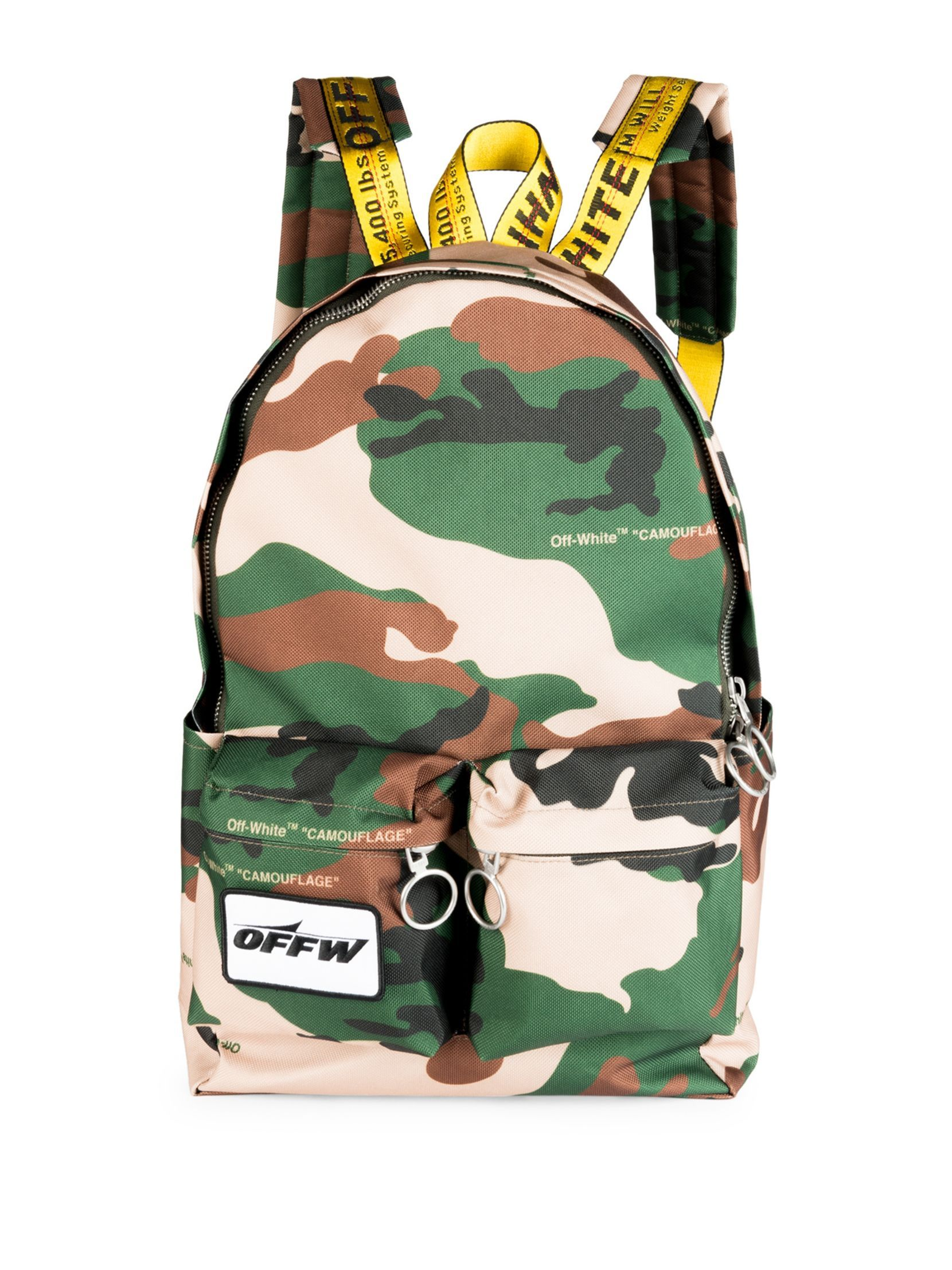 51a8088341177 Off-White Camouflage Textured Backpack | Bags | Backpacks ...