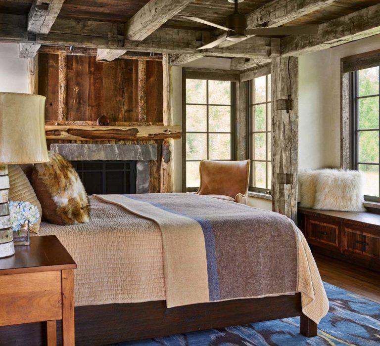 Modern-rustic Log Cabin Preserves Historic Charm In