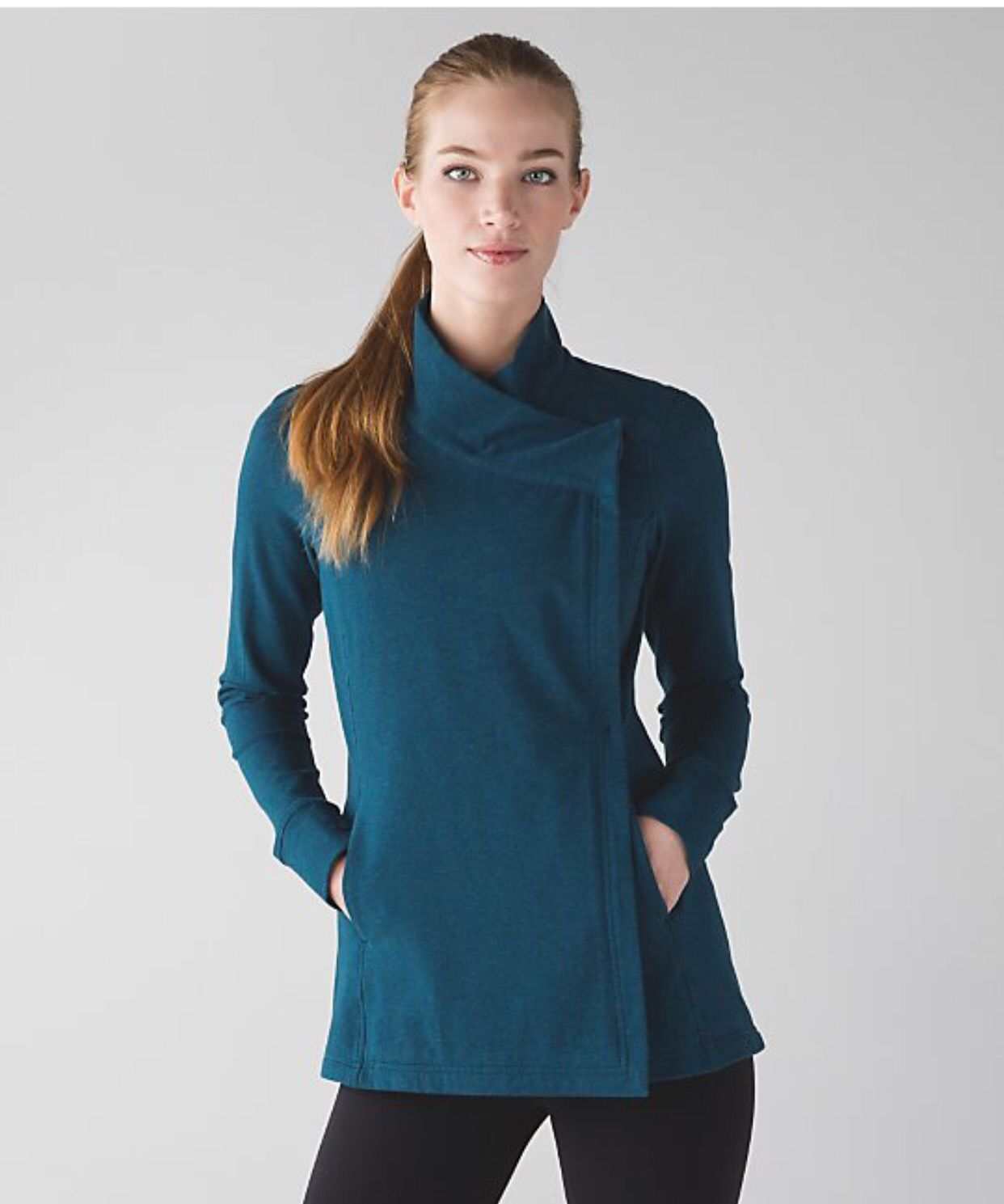 95dcc1e7990a9 Lululemon Coast Wrap II - Alberta Lake | My Lulu Closet | Tunic tops ...