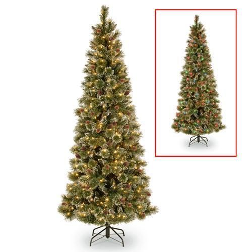 Crystal Elegance Pine Slim Dual Color Led Powerconnect Pre Lit Artificial Christmas Tree In 2020 Slim Tree Led Color Artificial Christmas Tree