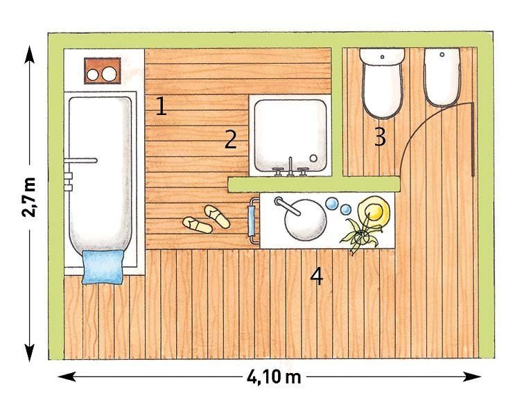 Resultado de imagen para planos de ba os con ducha y for Banos modernos con banera