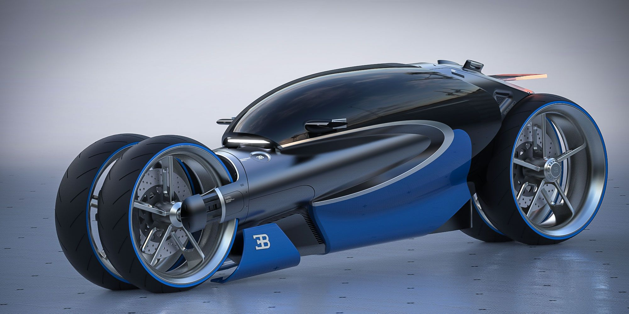 Bugatti Type 100m Bike Concept Concept Cars Futuristic