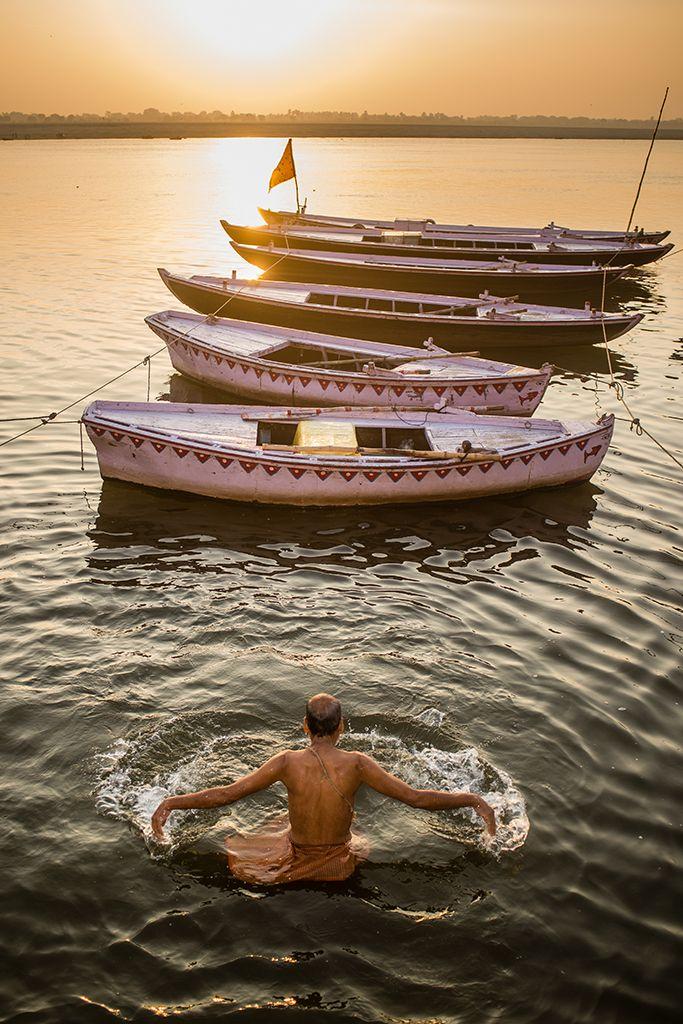 Amanecer en el Ganges