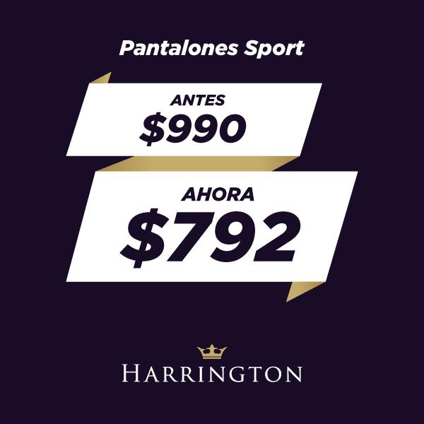 ¡La nueva temporada llega con descuentos!  Encontrá pantalones sport para este verano con un 20% de descuento en Harrington.