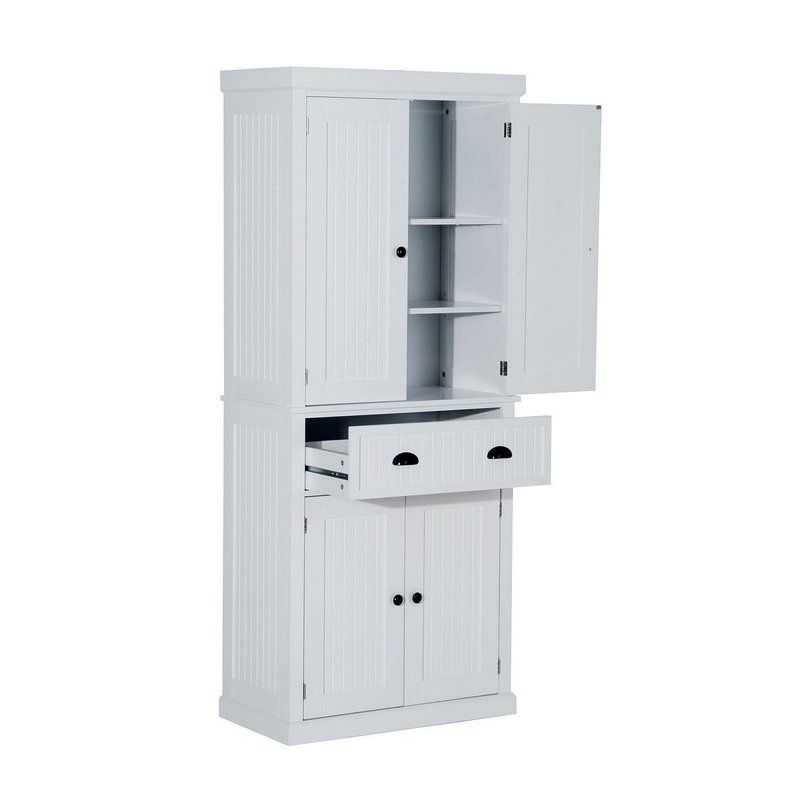Gracie Oaks Stahl 72 Kitchen Pantry Reviews Wayfair Kitchen Pantry Cabinets Adjustable Shelving Pantry Cabinet