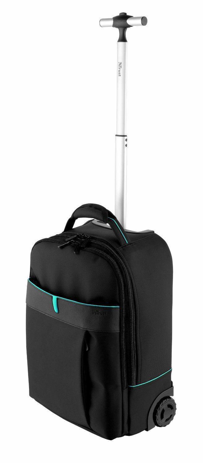 Trust Rio Trolley Backpack Laptop Bag Case Fits Upto 16 Inch   Black: Amazon