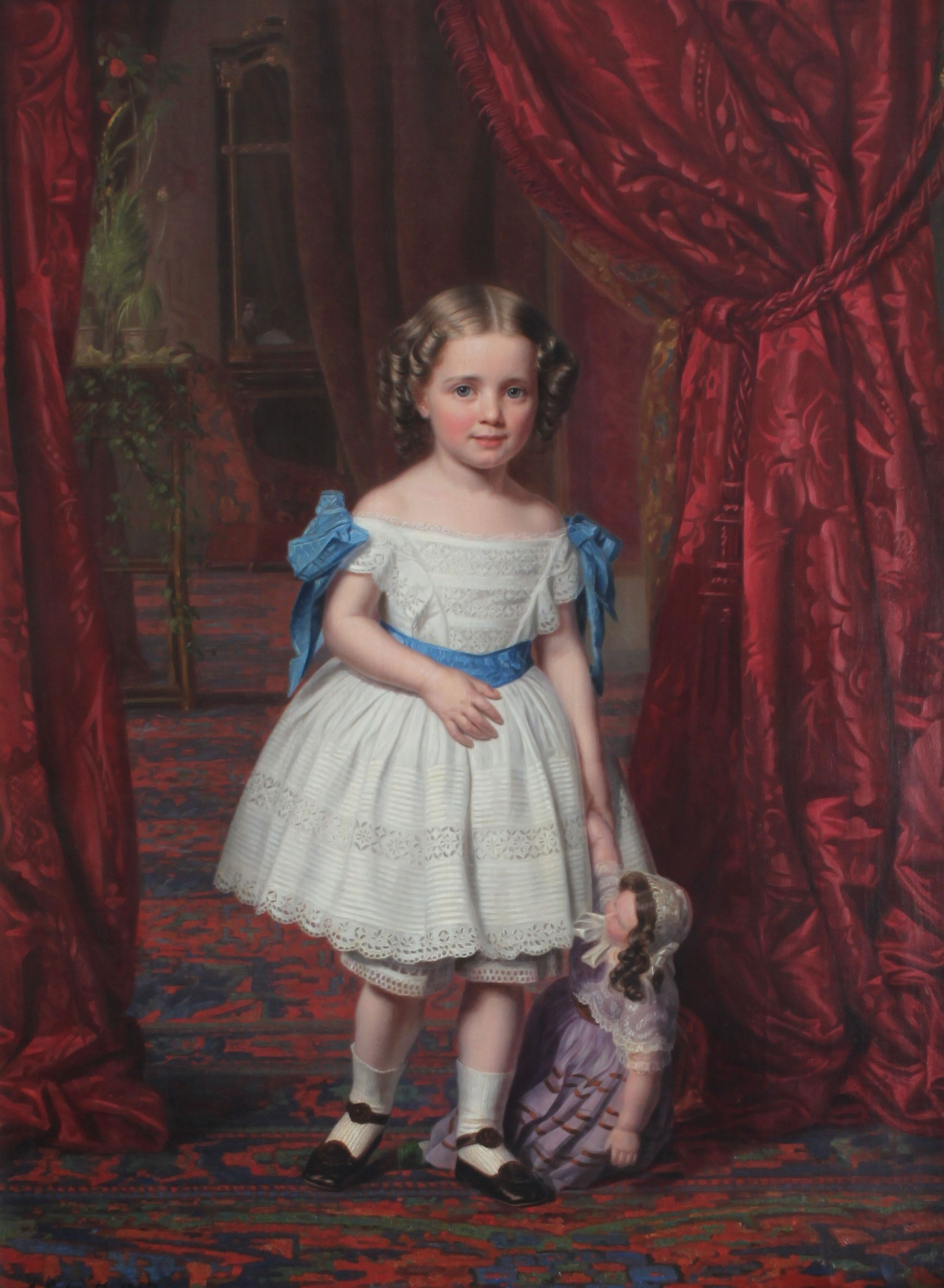 1857: Princess Thyra of Denmark (1853-1933),  was the fifth child and youngest daughter of Christian IX of Denmark and Louise of Hesse-Kassel. In 1878 she married Ernest Augustus, the exiled heir to the Kingdom of Hanover. Thyra was the younger sister of Frederik VIII of Denmark, Queen Alexandra of the United Kingdom, George I of Greece and Empress Maria Feodorovna of Russia.