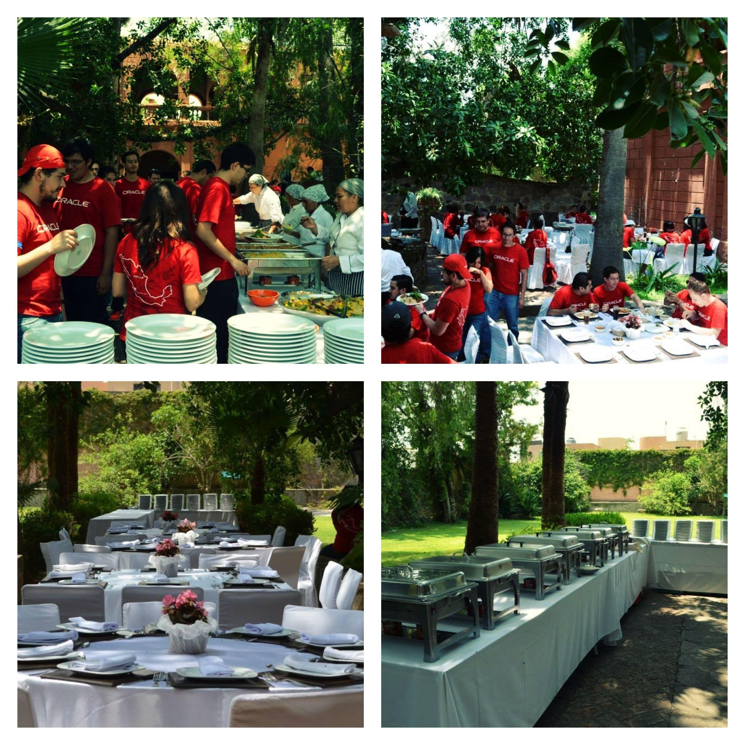 Buffete evento team building empresa oracle en hacienda San José del valle