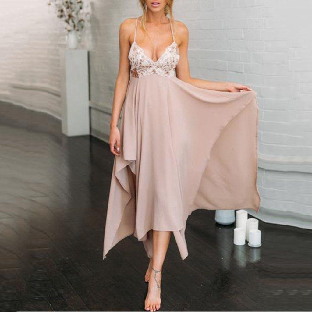 Nude Faux Suede Spaghetti Strap Dress