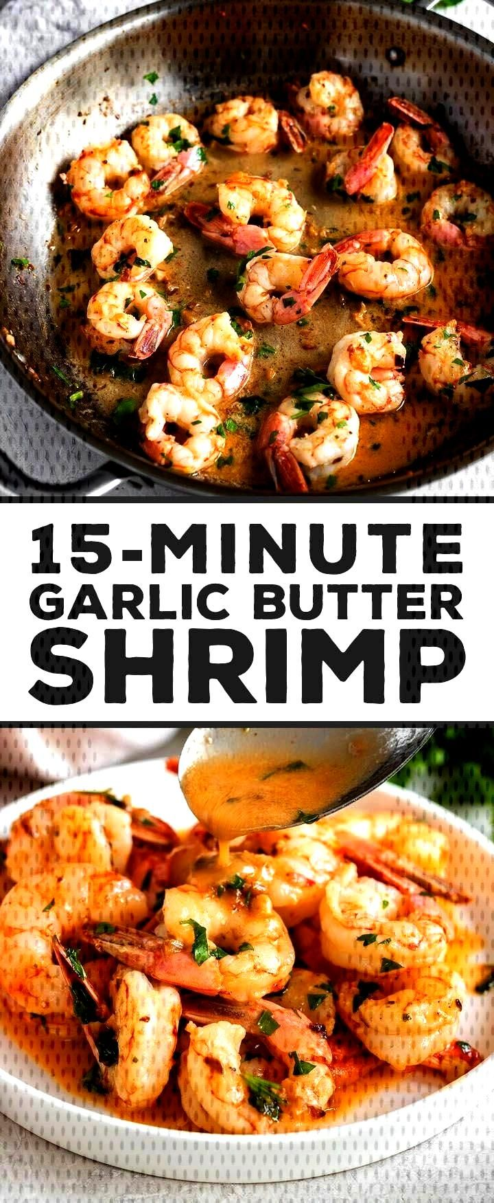 delicious and ready in 15 minutes!! Garlic butter shrimp with fresh lemon juice and a hint of red p