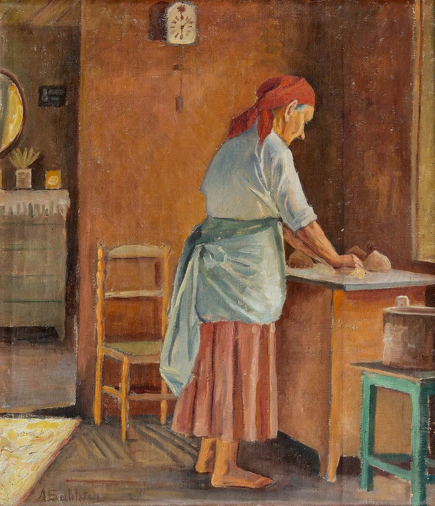 sahlsten, anna Woman Baking in 2020 Painting, Female
