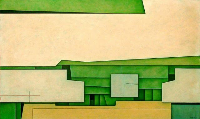 Azul-Verde-Amarillo Artist: Gunther Gerzso Completion Date: 1969 Style: Hard Edge Painting Genre: abstract