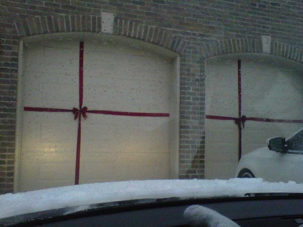 Garage door christmas decorations - Find This Pin And More On Christmas Decorations Gift Wrapped Christmas Garage Door
