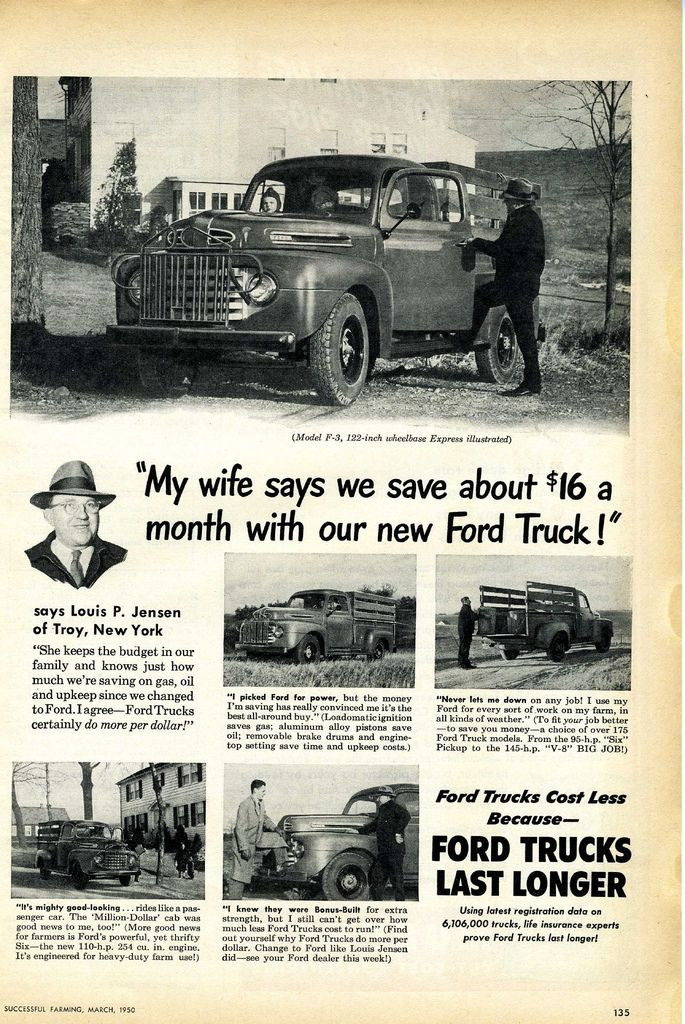 1950 Ford Truck Ad Classic Trucks Ford Trucks Old Trucks