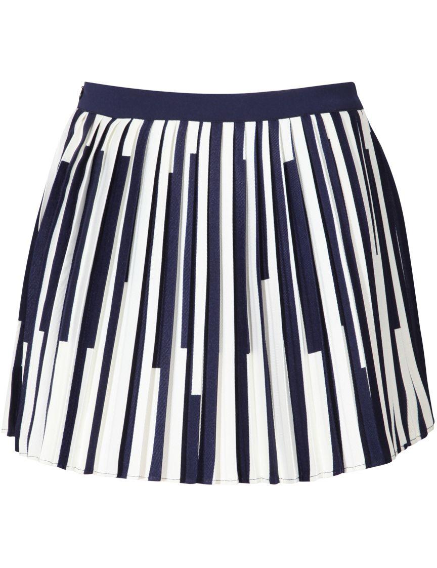 RoyalBlue Vertical Striped Pleated Skirt 16.00