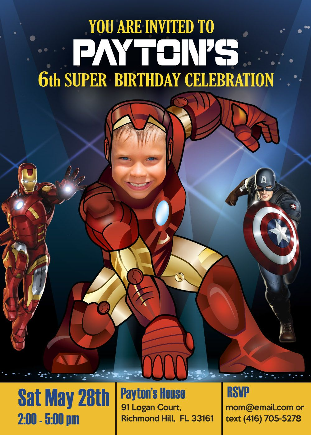 Ironman Birthday party invitation and party ideas. Avengers ...