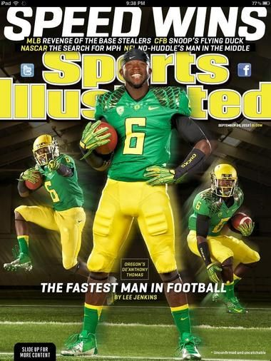 De'Anthony Thomas makes the cover of Sports Illustrated heading into Week 4 of the 2012 college football season.
