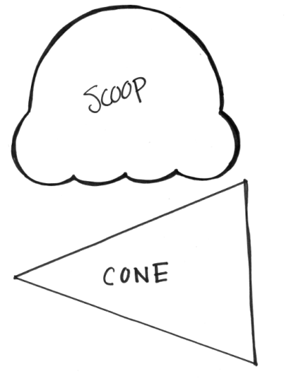 Ice Cream cone template.... Play freeze or melt game too