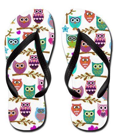 Look at this #zulilyfind! White Owls Flip-Flop #zulilyfinds