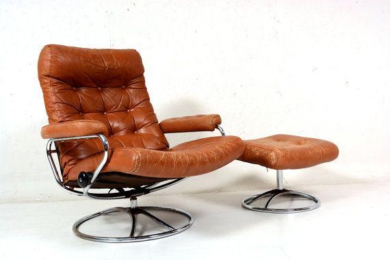 Vintage 70 S Chrome Ekornes Stressless Recliner Lounge By Midcmad