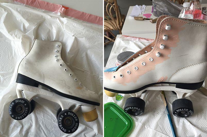 Diy paint your roller skates roller skate shoes roller