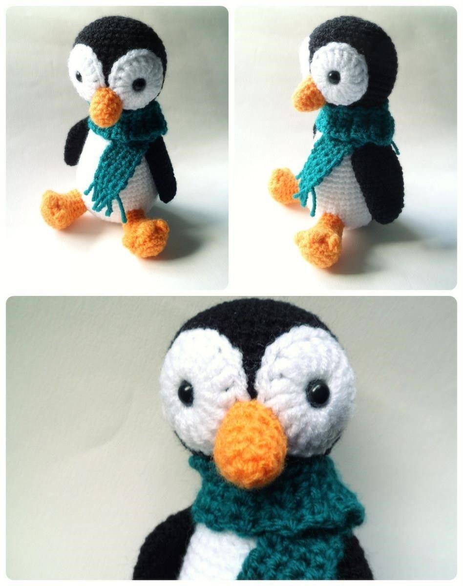 Patrón amigurumi de este pingüino friolero. Descargar patrón ...