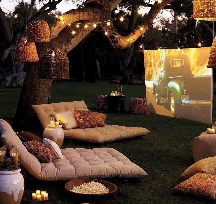 Faye's birthday ideas :D outdoor cinema