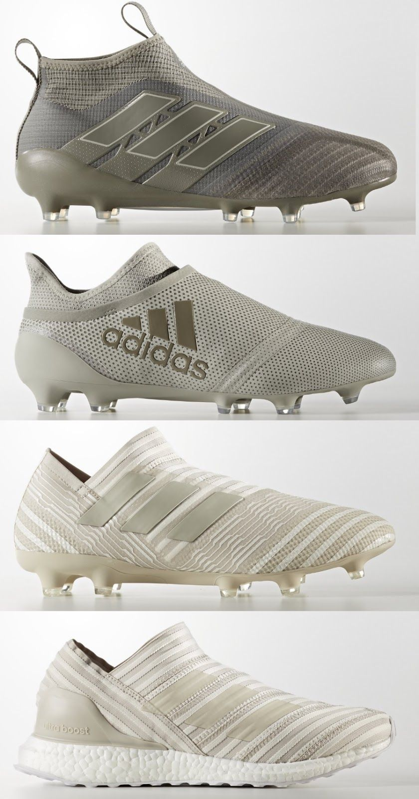 9f6a58c9538e Called the Adidas Earth Storm pack, the new Adidas November 2017 soccer  boots collection includes the Adidas Ace, Nemeziz and X silos.