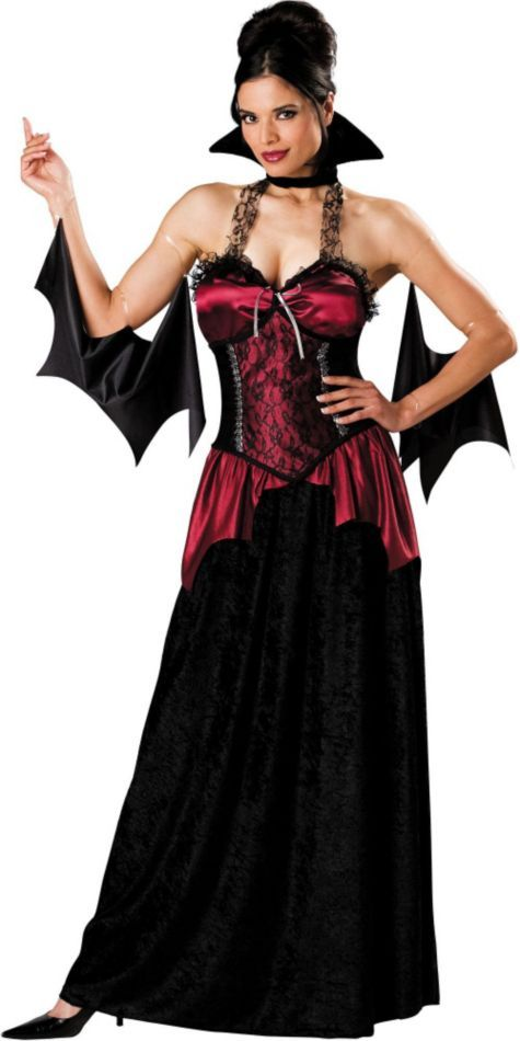 V&ira V&ire Costume for Adults - Halloween City  sc 1 st  Pinterest & Vampira Vampire Costume for Adults - Halloween City | halloween ...
