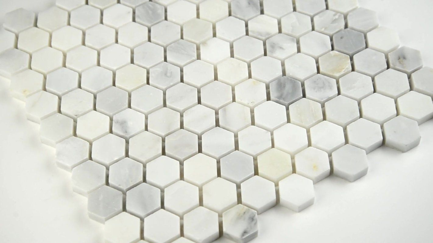 Arabescato Carrara 1 X 1 Marble Mosiac Tile