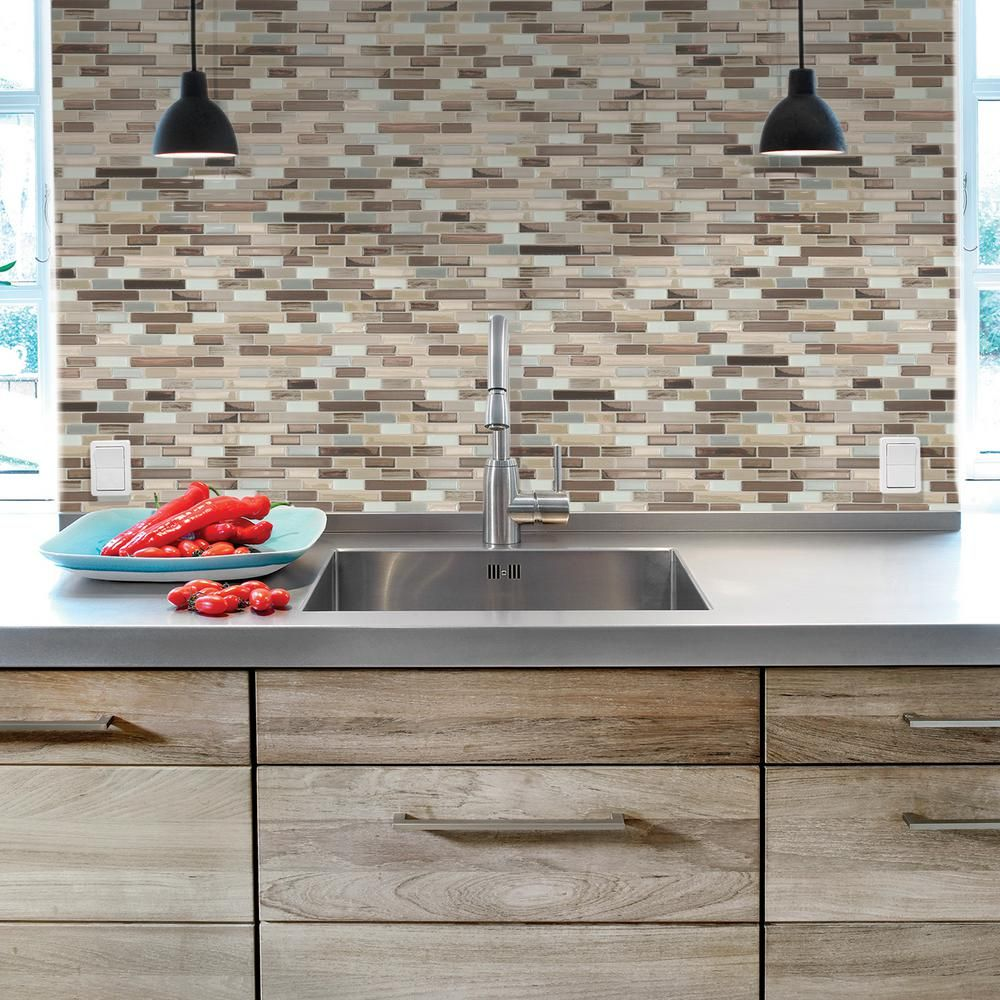 Peel and Stick Natural Stone 4.5 sq ft 6 x 9-inch Copper ...
