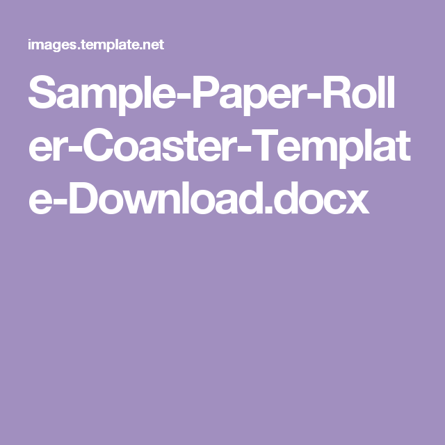 Sample Paper Roller Coaster Template Download Docx Science Lab