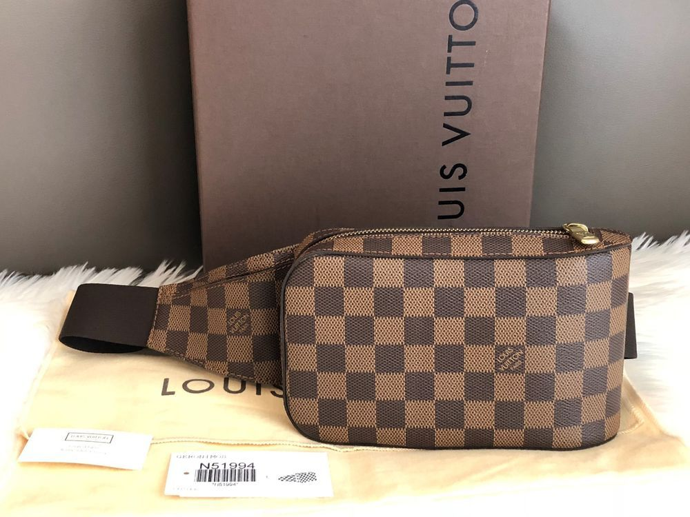 1ff4ae07030a Auth LOUIS VUITTON Geronimos Damier Ebene Canvas Small Bum Waist Shoulder  Bag  purses  fashion