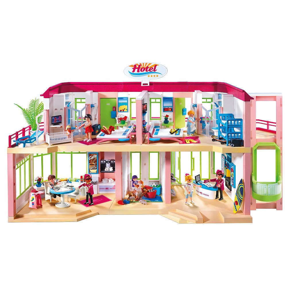 Playmobil Large Furnished Hotel | Playmobil and Crafts