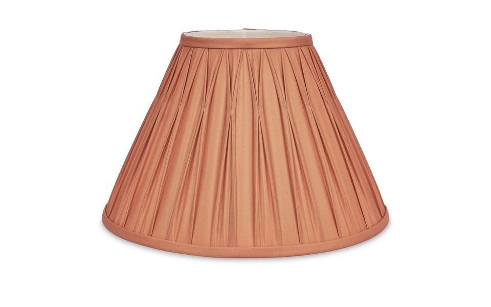Fenn Double Pleat Cinnamon Silk Shade